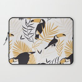 Toucan Leave Tropical Pattern Laptop Sleeve