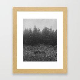 standing in the mist Framed Art Print