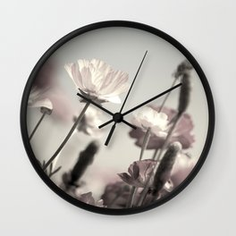 Ranunculous Wall Clock