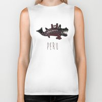peru Biker Tanks featuring Ancient Peru by Franco Olivera