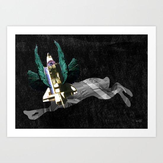 ShuttleHareHead Art Print