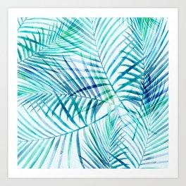 Tropical Palm Pattern Art Print
