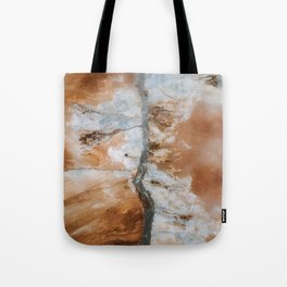 Abstract River in Iceland's Volcanic Highlands – Landscape Photography Tote Bag