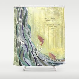 Trust Your Instincts Shower Curtain
