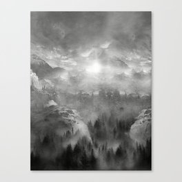 B&W - Wish You Were Here (Chapter I) Canvas Print