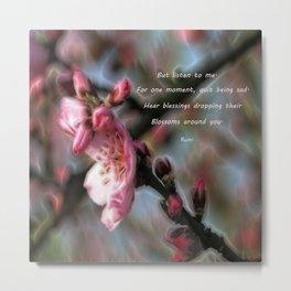 Poem from Rumi 2 Metal Print
