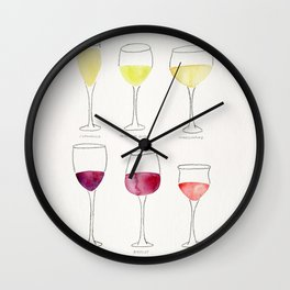 Wine Collection Wall Clock