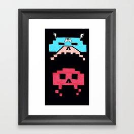 Captain America  & Red Skull space invaders Framed Art Print