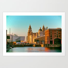 Pier Head and the Albert Dock Art Print