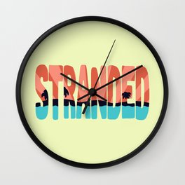 STR\NDED Wall Clock