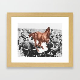 death rattle Framed Art Print