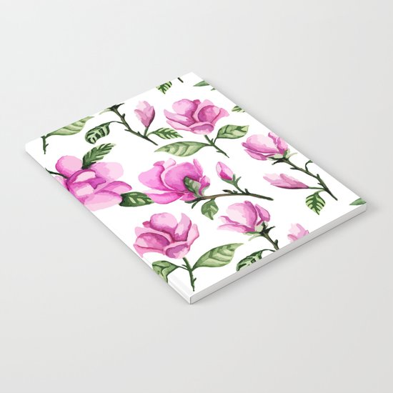 Pink magnolias. Watercolor Notebook