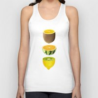 fruits Tank Tops featuring Mixed Fruits by victor calahan