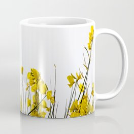 Minimal Garden -Yellow Version - Black Stems with Yellow Petals On White #decor #society6 #buyart Coffee Mug