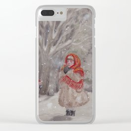 Hiding gnome Clear iPhone Case