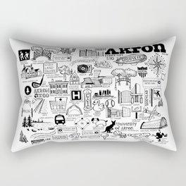 Akron Ohio Map Rectangular Pillow