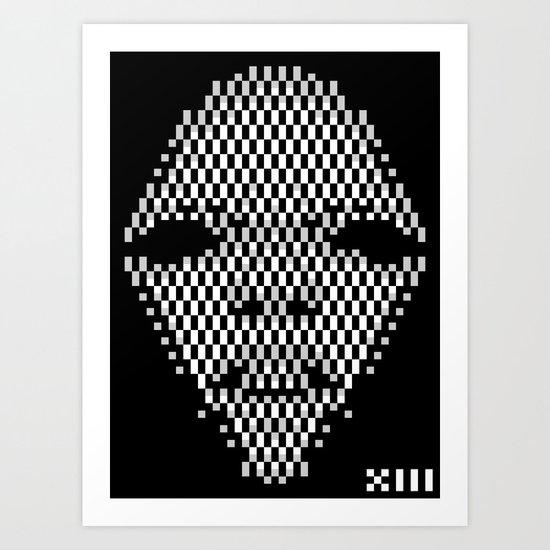 Diamond Face 1 Art Print