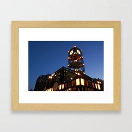 trolley station Framed Art Print