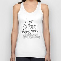 inspirational Tank Tops featuring Great Adventure by Leah Flores