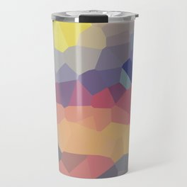 Pastel Geometric Moon Rise Travel Mug