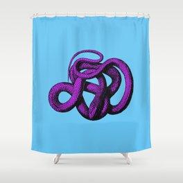 Snek 4 Snake Purple Blue Shower Curtain