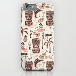 Tropical Tiki - Cream Pink iPhone Case