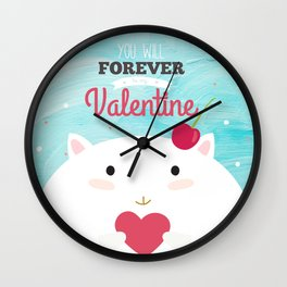 Baby Valentine Wall Clock