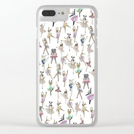 Animal Square Dance Clear iPhone Case