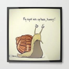 snail sauce Metal Print