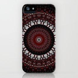 Decorative Red Mandala Design iPhone Case