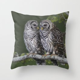 Barred Owls  Throw Pillow