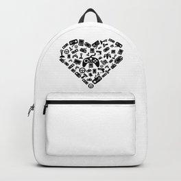 I Love Gaming | Gamer Heart Games Computer Online Backpack