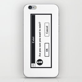 Basic Existentialism I iPhone Skin
