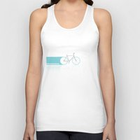 bicycles Tank Tops featuring Light Bicycles by John Jurik