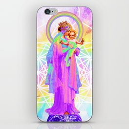 Our Lady of Sacred Geometry iPhone Skin