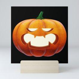 Pumpkin Pumpkin face Halloween Scared Mini Art Print