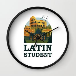 Latin Student Ancient Rome Wall Clock