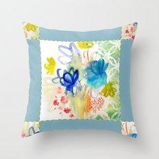 Fleurs Quilt Throw Pillow
