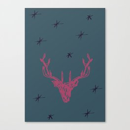 Sketched Stag Canvas Print