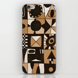 Geometric shapes #3 Gold iPhone Skin