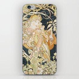 1898 Femme A Marguerite Alphonse Mucha iPhone Skin