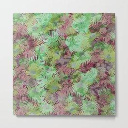 Seamless Pattern of Tropical Leaves II Metal Print