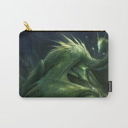 Green Crystal Dragon Carry-All Pouch
