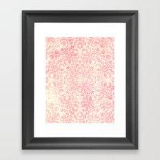 Shabby Arabesque Pattern Framed Art Print
