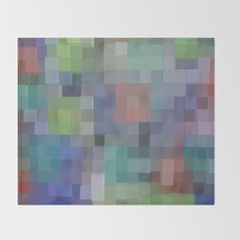 Abstract pixel pattern Throw Blanket