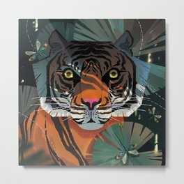 Javan Tiger Metal Print
