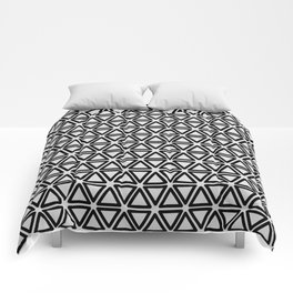 POINTS - classic black & white Comforters