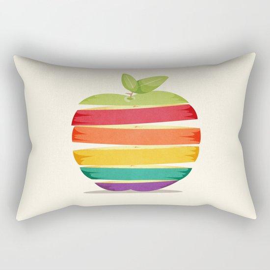 Rainbow Apple Rectangular Pillow
