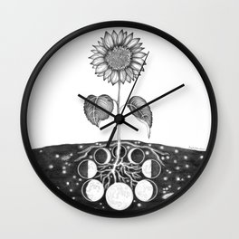 Prāṇa (Life Force) Wall Clock