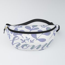 Watercolor home foliage – lilac Fanny Pack